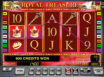 Игровые автоматы Royal Treasures от Новоматик